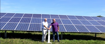 Im April 2014 ging der Solarpark an den Start. Foto: Wircon